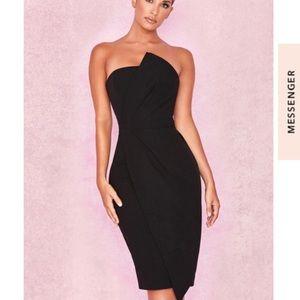House of CB Black Uma Midi Dress Size Small NEW